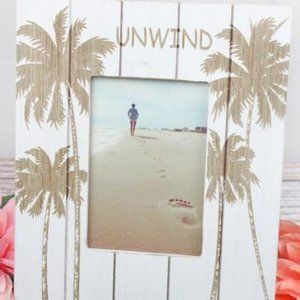 New Wooden Palm Tree Picture Frame
